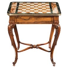 An attractive Regency rosewood chess table