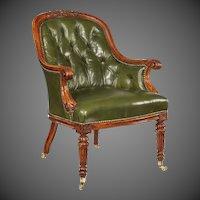 A George I walnut armchair