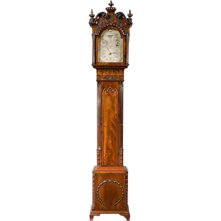 A very fine mahogany Grandfather clock in the Chippendale taste