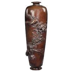 A Meiji bronze vase (Japan, c. 1900)