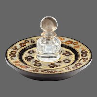 Early Victorian Boulle-Work and Ebony Inkstand After George Bullock