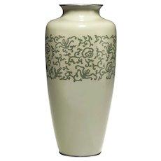 A Large Japanese Cloisonne Vase, Meiji Period