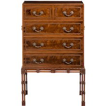 fine quality Georgian style mahogany cabinet