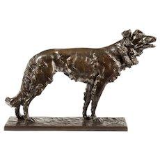 Patinated Bronze Borzoi (Germany, 19th century)