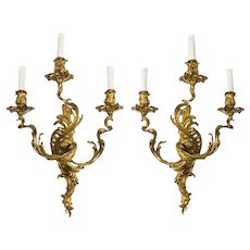Ormolu wall lights, Napoleon III