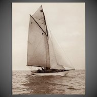 Early silver gelatin photographic print by Beken of Cowes - Yacht Spica