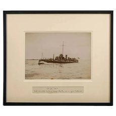 Framed albumen photograph of the Royal Navy Torpedo boat No 79