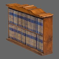 A Miniature Mahogany Table Bookcase Of Diamond Classic