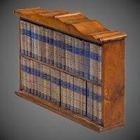 A Miniature Mahogany Table Bookcase Of Diamond Classic