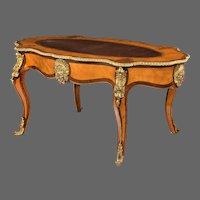 Victorian satinwood bureau plat