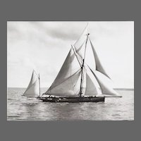 Early silver gelatin photographic print by Beken of Cowes -Ketch Iona