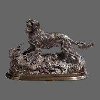 Bronze model of an Irish setter