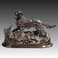 Bronze model of an Irish setter
