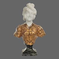 A marble and ormolu bust by Marionnet