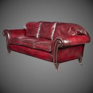 Late Victorian three seater chesterfield sofa