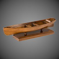 A late Victorian mahogany rowing boat model