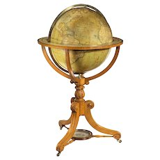 A William IV 20 inch Terrestrial Globe By Cruchley