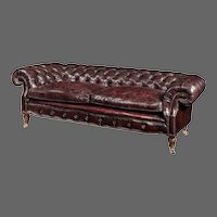 A Victorian walnut Chesterfield sofa