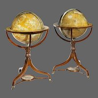 A Pair Of Early Victorian 18 Inch Globes By Smith & Son