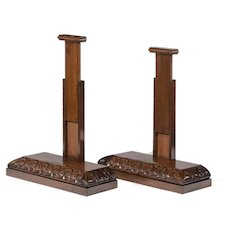 pair of extending mahogany salver stands attributed to Gillows