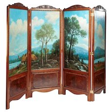 Gillow style antique screen