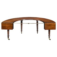 A George III mahogany 'social' table attributed to Gillows