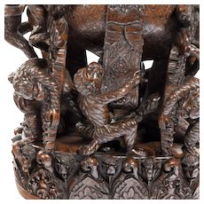 An extraordinary carved 19th century sculpture