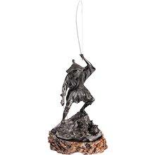 Tokyo school bronze of a fisherman by Jonan