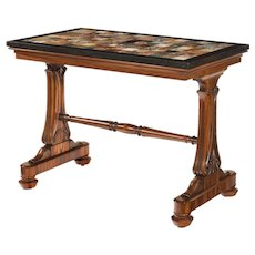 A Late Regency Gonçalo alves specimen marble top table by Gillows
