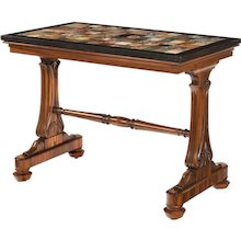 A Late Regency Gonçalo alves specimen marble top table by Gillows