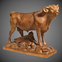 Fine quality late 19th century Black forest bull