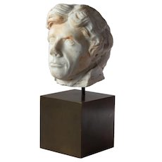 A Marble Head of Admiral Lord Nelson from a bust