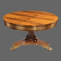 George IV brass-inlaid rosewood centre table attributed to Gillows