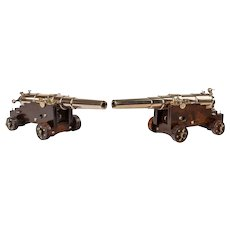 Bronze scale models of 40lb naval cannon