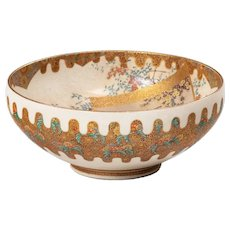 A Meiji period Satsuma earthenware bowl
