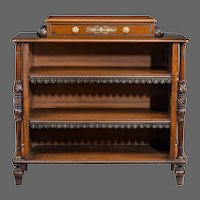 A William IV Mahogany Open Bookcase by Brown and Lamont