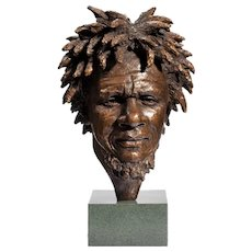 A fine bronze bust of 'Dougie' by Vivian Mallock