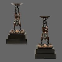 Pair of mid 19th century Venetian Blackamoor Torcheres