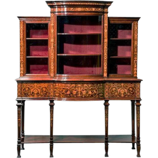 Late victorian mahogany side cabinet