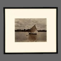 A rare framed Albumen print attributed to John Valentine