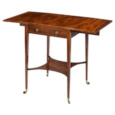 A Sheraton period George III mahogany patience table