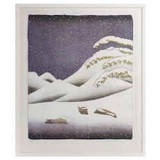 David Hockney (b. 1937) 'Snow' (England, 1973)