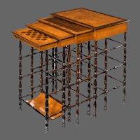 A nest of Regency specimen wood tables by Gillows of Lancaster