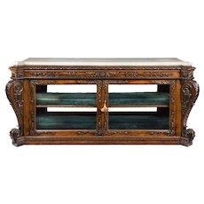 A superb Regency rosewood side/display cabinet