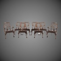 A set of eight mahogany dining chairs by Marsh, Jones and Cribb