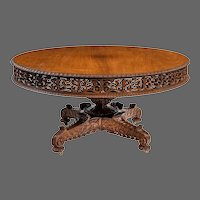 William IV Colonial padouk five-foot round table