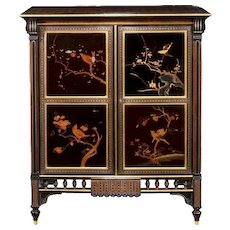 An exquisite exhibition quality side cabinet by Giroux