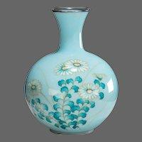 A Showa period gin-bari cloisonné vase by Tamura