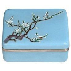 A Meiji period cloisonné box