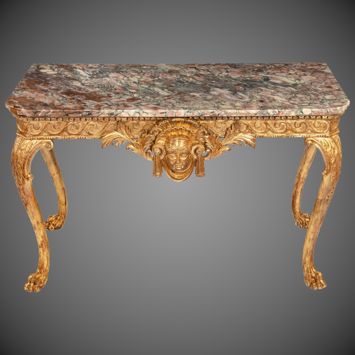 Charmant A Mid Victorian Gilt Wood Console Table